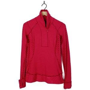 Lululemon Think Fast Pullover Pink Stripe Sweater